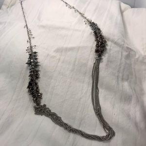 Long silver Mexx chain necklace